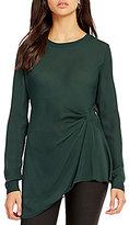 Katherine Kelly Edie Round Neck Long Sleeve Silk Blouse