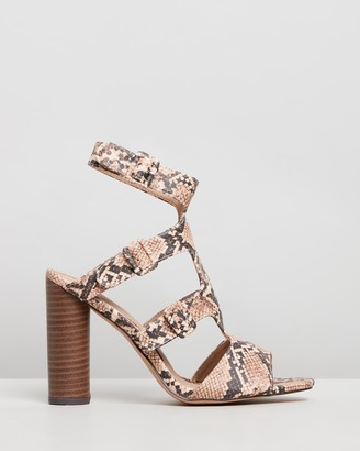 Missguided Multi-Buckle Block Stack Sandals