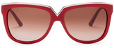 Valentino Women's Round Acetate Sunglasses