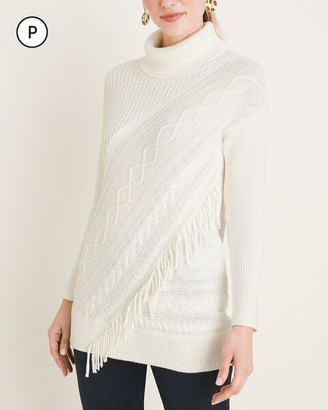 Chico's Petite Turtleneck Cable-Knit Tunic
