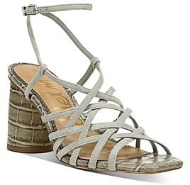 Sam Edelman Women's Daffodil Strappy Block Heel Sandals