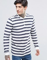Minimum Long Sleeve Stripe Henley Top