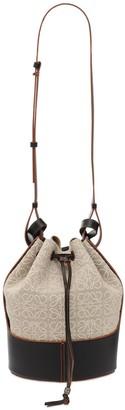 Loewe Balloon Anagram Linen & Leather Bag