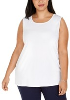 Karen Scott Plus Size Cotton Tunic Tank Top, Created for Macy's