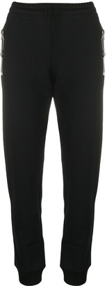 Moschino Fitted Cotton Track Pants