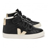 Veja Fur-lined Leather Velcro Esplar Mid High Top Trainers