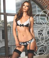 Leg Avenue Trimmed Out Bra Panty Set Lingerie - Women's
