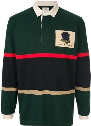 Kent & Curwen Veasley rose patch rugby shirt