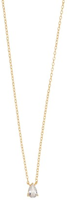 Wanderlust + Co Pear Topaz Gold Sterling Silver Necklace