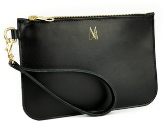 Village Leathers Soft Leather Clutch Bag - Black