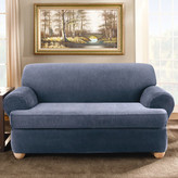 Sure Fit Stretch Stripe Sofa T-Cushion Slipcover