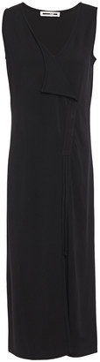 McQ Wrap-effect Draped Ponte Midi Dress