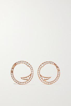 Stephen Webster + Net Sustain Thorn Stem 18-karat Recycled Rose Gold Diamond Earrings - one size