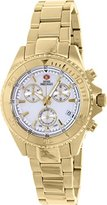 Mother of Pearl Swiss Precimax Women's SP12186 Manhattan Elite Mother-Of-Pearl Dial Gold Stainless Steel Band Watch