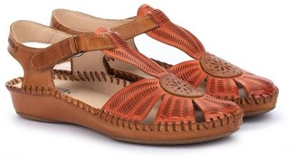 PIKOLINOS Floral Perforated Leather Sandals - P.Vallarta