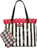 Betsey Johnson Scallop-Trim Tote with Pouch