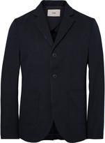 Folk - Blue Unstructured Cotton-blend Twill Blazer