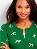 Talbots Dalmatians Cardigan Sweater