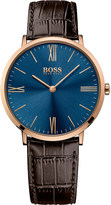 HUGO BOSS 1513458 Jackson gold-plated leather watch