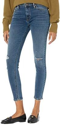 Hudson Nico Mid-Rise Super Skinny in Worn Shakedown (Worn Shakedown) Women's Jeans