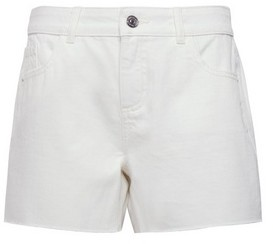 Dorothy Perkins Womens White Raw Hem Boy Short, White