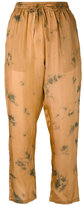 Mes Demoiselles printed Autan pants - women - Silk - 38