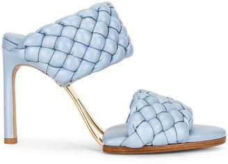 Bottega Veneta Lido Leather Woven Sandals in Ice | FWRD
