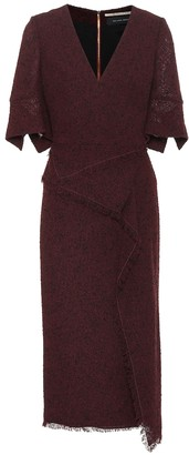 Roland Mouret Marengo wool-blend midi dress