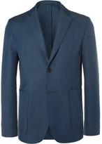 Acne Studios Blue Biarritz Slim-Fit Linen and Cotton-Blend Suit Jacket