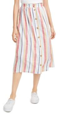 Ultra Flirt Juniors' Striped Midi Skirt