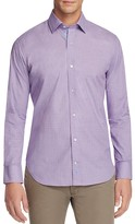 Tailorbyrd Devil's Lake Grid Print Classic Fit Button Down Shirt