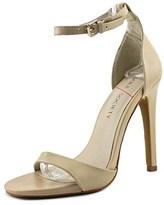 Sole Society Lindsay Women Open-toe Leather Nude Heels.