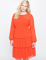 ELOQUII Plus Size Studio Tiered Ruffle Dress