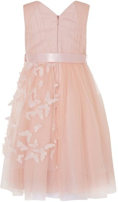 Monsoon Girls 3D Butterfly Wrap Dress - Pink
