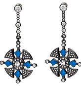 Gunmetal and Crystal Drop Earrings
