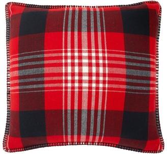 """Indigo Winter Plaid Pillow Cover 18"""" X 18"""""""