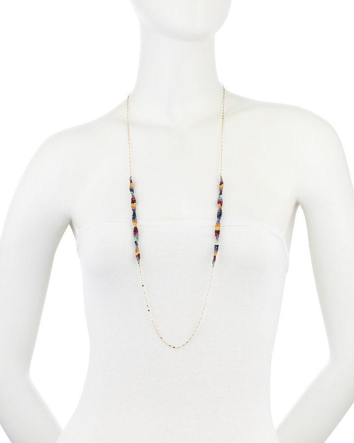 Lana Vivid Twisted Sapphire Necklace