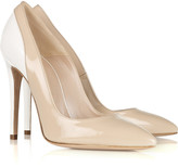 Two-tone patent-leather pumps