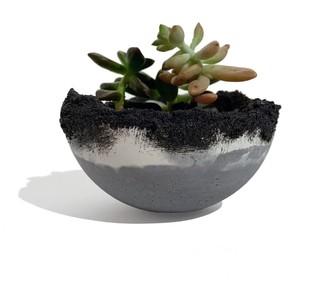 Studio Story Ornamental Concrete Plant Pot Grey With Drain Hole