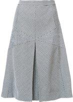 Derek Lam contrast panel flared skirt