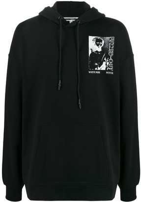 McQ oversized Fuzzed Out print hoodie