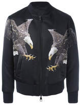 Neil Barrett Eagle Print Bomber Jacket - Black - Size S
