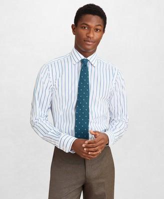 Brooks Brothers Golden Fleece Regent Fitted Dress Shirt, English Collar Bold Stripe