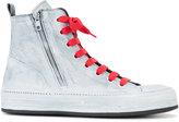 Ann Demeulemeester side zip hi-top sneakers - women - Leather/rubber - 40