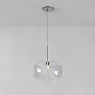 west elm Sculptural Glass Pebble Pendant - Large (Clear)