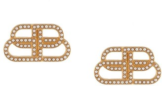 Balenciaga BB small stud earrings