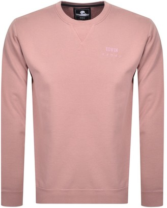 Edwin Base Crew Neck Sweatshirt Pink