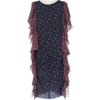 Marni Navy Silk Dresses