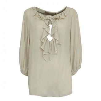 Francesco Scognamiglio White Silk Top for Women