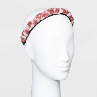 Wild Fable Braided Velvet Braided with Scatter Pearls Headband - Wild FableTM Blush